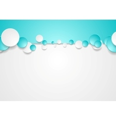 Bright corporate turquoise design with circles vector