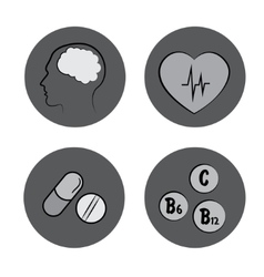 Health icons medicine medical signs vector