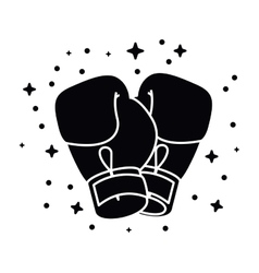 Boxing gloves isolated icon design vector