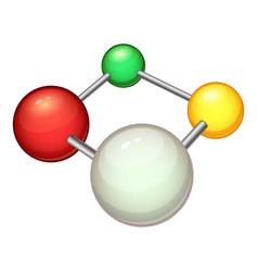 atom molecule icon cartoon style vector image vector image