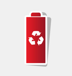 battery recycle sign new vector image vector image