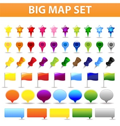 Big Map Set vector image vector image