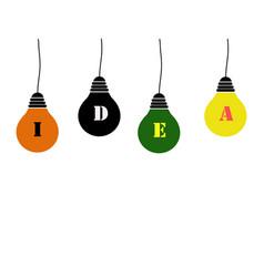 Bulbs idea vector