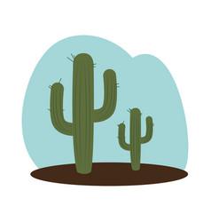 cactus plant wild west icon vector image vector image