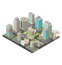 City isometric concept vector