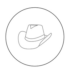 Cowboy hat icon outline singe western icon from vector
