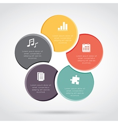 Cycles Infographic Diagram vector image vector image