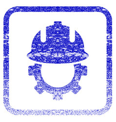 Development helmet framed textured icon vector