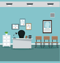 Doctor professional office hospital room vector