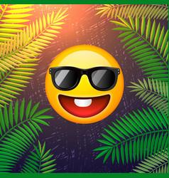 Hello summer poster summer party design template vector