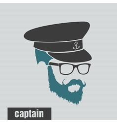 icons captain hairstyles beard and mustache vector image vector image