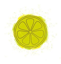 Lemon with splash vector