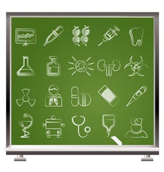 medicine and hospital icons vector image