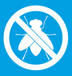 no fly sign icon white vector image