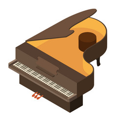 piano icon isometric style vector image vector image