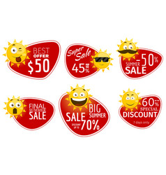 promotional advertising banners summer vector image vector image
