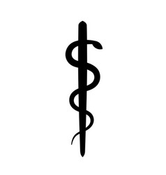 Rod of asclepius vector