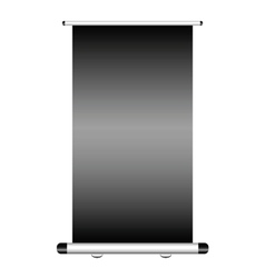 Roll up with dark background vector