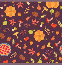 simple food seamless pattern vector image