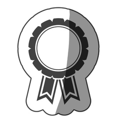 sticker monochrome medal with ribbons vector image vector image