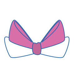tape bow knot vector image vector image