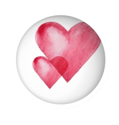 two watercolor heart vector image vector image