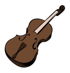 Violin icon cartoon vector