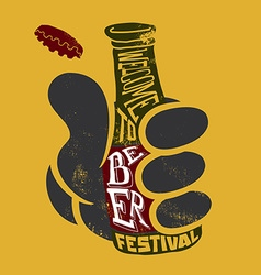 Welcome to the beer festival Poster for ba vector image vector image