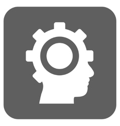 Cyborg gear flat squared icon vector