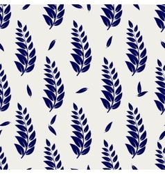 Ball pen seamless pattern with branches vector