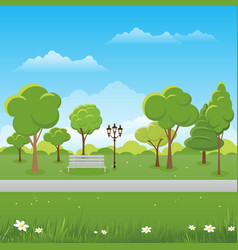 spring landscape background public park vector image