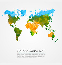 map 3d polygon vector image