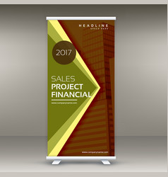 Abstract business roll up banner template in vector