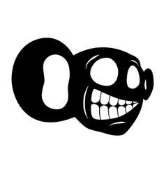 face cartoon character vector image