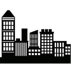 Silhouette skyscrapers building city architecture vector