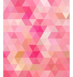 Pink triangle abstract background vector
