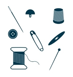Set of sewing and needlework icons vector