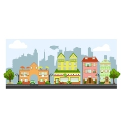 Four little houses vector