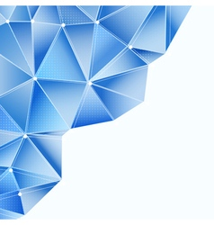 blue abstract triangles vector image