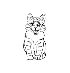 Cheerful kitten vector