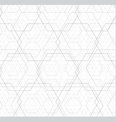 abstract black and white hexagon outline overlap vector image