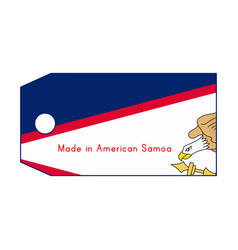 American samoa flag on price tag with word made vector