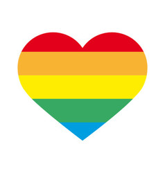 Big heart with rainbow colors vector image