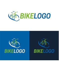 bike icon and logo vector image vector image