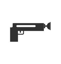Black icon on white background kids gun vector