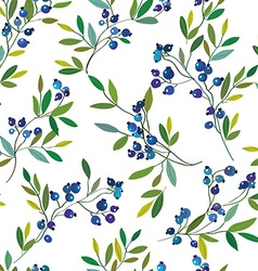 Blueberry seamless graphic pattern vector