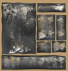 cardboard impressions vector image vector image