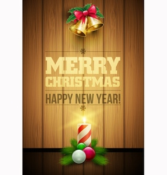 Christmas Message board vector image