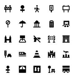 City elements icons 6 vector