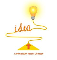 Conceptual icon light bulb idea vector
